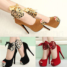 Hot Sexy Women High Heels Pumps Stiletto Platform Peep Toe Sandal Platform Shoes