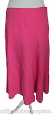New Womens Marks and Spencer Pink Linen Skirt Size 20 16 14 12 RRP £35