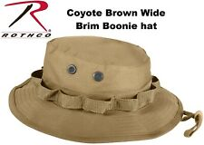 Coyote Brown Military Tactical Wide Brim Bucket Camping Hunting Boonie Hat 5750