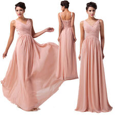 New In 5 Colors Long Wedding Bridesmaid Evening Quinceanera Party Bridal Dresses