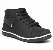 BigWing Black Coloured Canvas Casual Shoes For Men (MS-1002-Black)