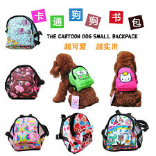 Pup Pet Dog Cat Backpack collar travel bag leash Harness S M L