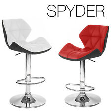 """NEW MODERN """"LEATHER"""" BAR/COUNTER STOOL ADJUSTABLE TWO-TONE SPYDER BARSTOOL"""