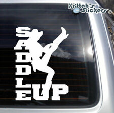 SADDLE UP Vinyl Decal - fits car PC Mac laptop window sticker and more K255