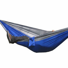 Two Person Portable Parachute Nylon Fabric Hammock Travel Camping Large Size
