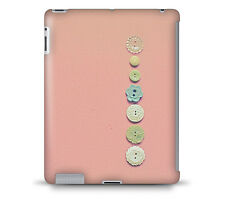 Vintage Buttons on Pink Tablet Hard Shell for iPad, Kindle, Samsung Galaxy, Ne..