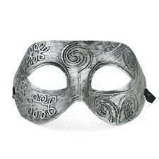 Men's Antique Greek Roman Soldier Venetian Party Masquerade Mask Golden/Silvery