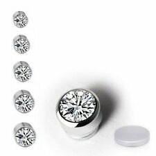 Shiny Magnetic Crystal Fake Stud Earrings, Clip On Non Piercing Earring Gift Hot