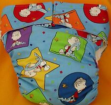 AIO (All In One) Adult Baby Reusable Cloth Diaper S,M,L,XL Green Eggs and Ham