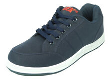 Mens DEK Canvas Lace Up Trainers Casual Shoes Pumps Blue Size 6 7 8 9 10 11 12