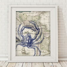 Crab on map Wall art - Children love this design. Bring it in...