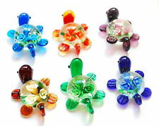 New Lot Xmas Inside Flower Tortoise Lampwork Glass Murano Pendants Necklace Gift