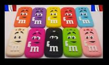 Coque Case Etui Housse mm's m&m's Silicone Galaxy S3 S4 S5 mini  +Film+stylet