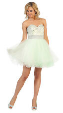 Cocktail Strapless Short Prom Dress Sequins Mesh Posh Homecoming Girls Night Out