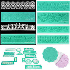 Lace Flower Silicone Mold Fondant Cake Decoration Baking Tool Sugar Craft Mould