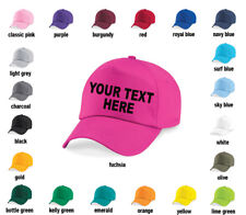 Custom Printed Personalised Baseball cap, hat, mens, ladies - any text, logo