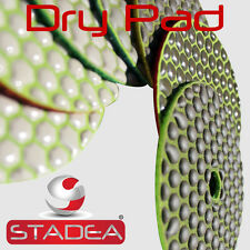"STADEA 4"" Dry Diamond Polishing Sanding Pads Discs Granite Marble Concrete Glass"