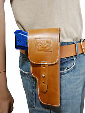 New Barsony Tan Leather Flap Gun Holster for Taurus Full Size 9mm 40 45