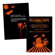 Personalised halloween invitations HAUNTED HOUSE BATS FREE ENVELOPES & DRAFT