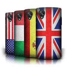 Phone Case Hard Back Cover/Skin Sleeve for Google Nexus 5 / World Country Flags