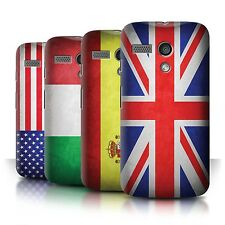 Phone Case Hard Back Cover/Skin for Motorola Moto G (2013) / World Country Flags