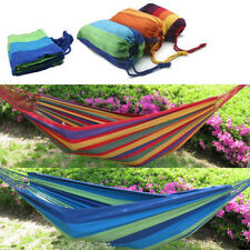 Hot Sale Thick Canvas Hammock Camping Swing Hanging Chair Outdoor Garden Hammock