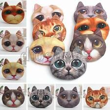 Cute Cat Animal Face Purse Coin Bag Zip Case Wallet Makeup Handbags Clutch Pouch