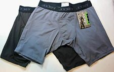 Men Jockey Sport Microfiber Performance 2-Pack Midway Brief Underwear H-Fly(G/C)
