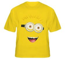 Despicable Me 2 Minions Face Fanny Standard Adult Daisy T-Shirt S to 5XL