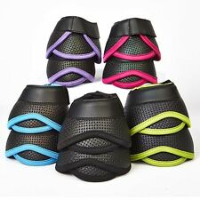 Elico Kirkby Scallop Bell Overreach Boots 5 Colours & 3 Sizes + Worldwide P&P