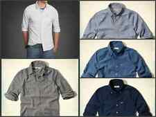NEW HOLLISTER BY ABERCROMBIE MEN'S CASUAL SHIRT BUTTON DOWN 100% COTTON SHIRTS