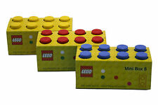 LEGO LUNCH/STORAGE MINI BOX 8 FOR SMALL SNACKS 3 COLOURS