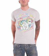 My Little Pony Rainbow Stripes Official Mens New Grey T Shirt All Sizes