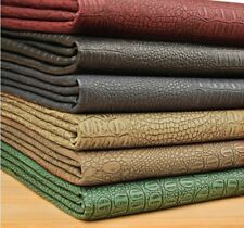 Fat Quarter Alligator Skin Embossed Faux Leather Fabric For Upholstery,Bag Craft