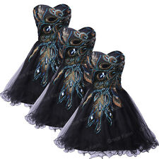 DISCOUNT!!Peacock Masquerade Prom Dress Homecoming Party Bridesmaid Evening Gown