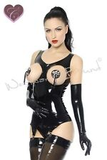 +R578 Suspender RUBBER LATEX PIN UP Corset ONLY **Red or Black** Last few £69.99