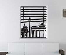 Wall Tattoo Skyline Berlin City Window Stamp Wall Decal 5M168