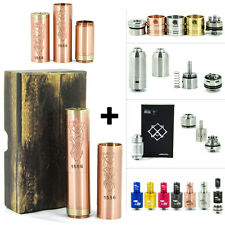 Akuma Clone Brushed Copper Mechanical Vape Mod + RBA RDTA RDA Atomizer Combo Kit