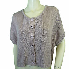 Initial womens Cropped Loose Knit Cardigan (3 Sizes 4 Colours)