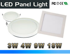 3W/4W/12W/18W LED Recessed Ceiling Flat Panel Light Downlight White Shell Round