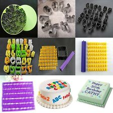 26 Letters Alphabet & Number Mould Fondant Cookie Biscuit Cake Mold Cutter Tool