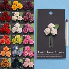 "Tussie Mussie Rose Flowers for ""Poirot"" 'Vintage' Lapel Pin Vases, Posy Holders."