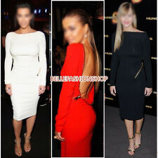 Sexy Women Long Sleeve  Bodycon Party Cocktail Dress Clubwear Evening Dress #087