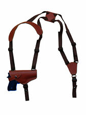 NEW Barsony Horizontal Burgundy Leather Shoulder Holster Springfield Full Size