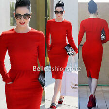 NEW Women  Celeb Vintage Bodycon Shift Sheath Business Party Evening Dress #078