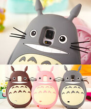 3D Rubber Cute Totoro Silicone Gel Case cover for Samsung Galaxy Note 4 3 2 III