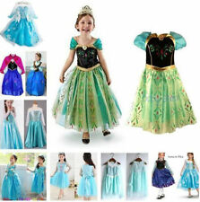Disney Robe Cosplay Girls Reine Enfants Filles Frozen Elsa Anna Princess Enfants