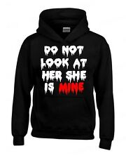 Do not Look at Her She is Mine HOODIE zombie halloween custom couple Sweatshirt