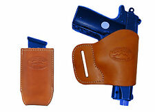 NEW BarsonyTan Leather Yaqui Holster + Mag Pouch Ruger Kimber 380 UltraComp 9 40
