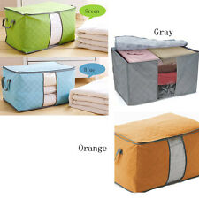 Foldable Bamboo Fibre Storage Box Container Quilt Cloths Blanket Organizer Bag